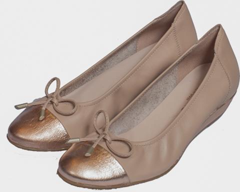 44120* METAL ROSE/FLORIDA ROSE туфли женские, кожа, золот/натур SABRINAS