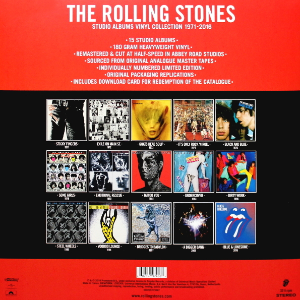The Rolling Stones Quot Studio Albums Vinyl Collection 1971