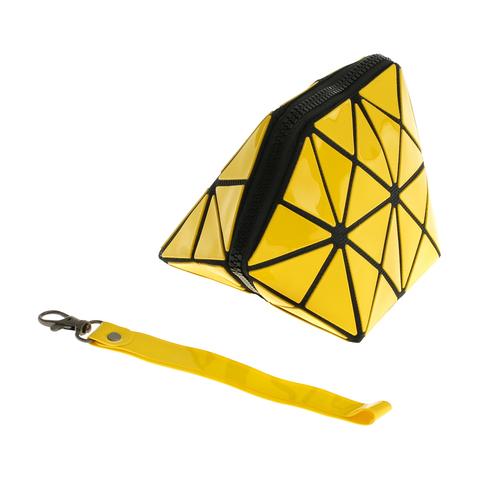 Косметичка женская Musaa Geometric bags, yellow, фото 3
