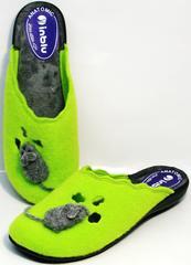 Красивые домашние тапочки женские Inblu NC- 1B Mouse Light Green