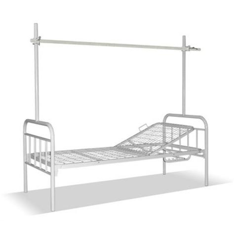 Кровать медицинская общебольничная К 01.02 с интегрированной рамой балканского (для отделений травматологии) - фото