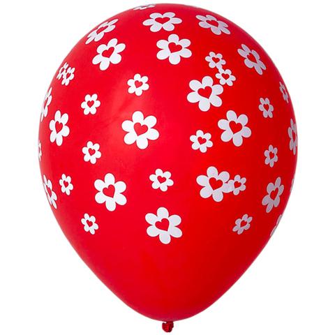 Воздушный шар с Сердцами в Ромашках