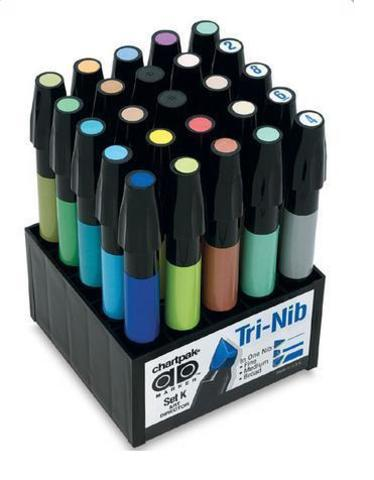 Набор маркеров CHARTPAK ART DIRECTOR, арт-директор, 25 цветов