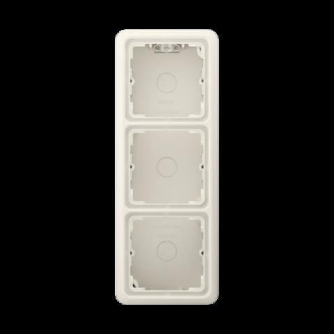 Накладная коробка на 3 поста. Цвет Слоновая кость. JUNG CD Накладные коробки. CD583AW