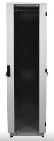 Шкаф телекоммуникационный напольный 38U (800 × 1000) дверь стекло