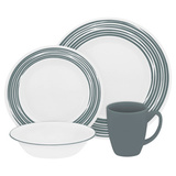 Набор посуды Brushed Silver 16 пр, артикул 1116940, производитель - Corelle