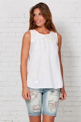 Блузка для беременных 01232 белый