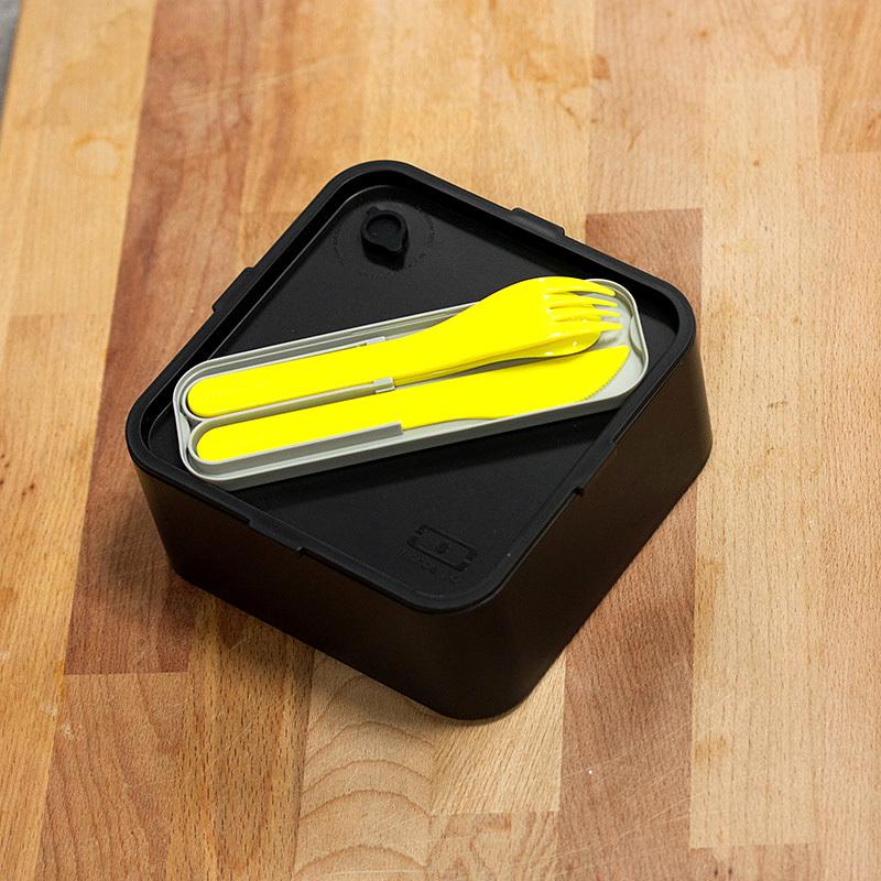Набор из 3 столовых приборов в футляре Monbento Pocket color желтый