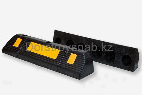 Колесоотбойник резиновый L560*W150*H100мм