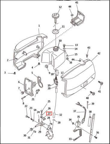 Тяга  для лодочного мотора T2,5 SEA-PRO (1-27)
