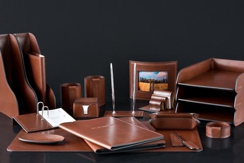 Настольный набор Luxe Full Grain Toscana Таn, 20 предмет натуральная кожа