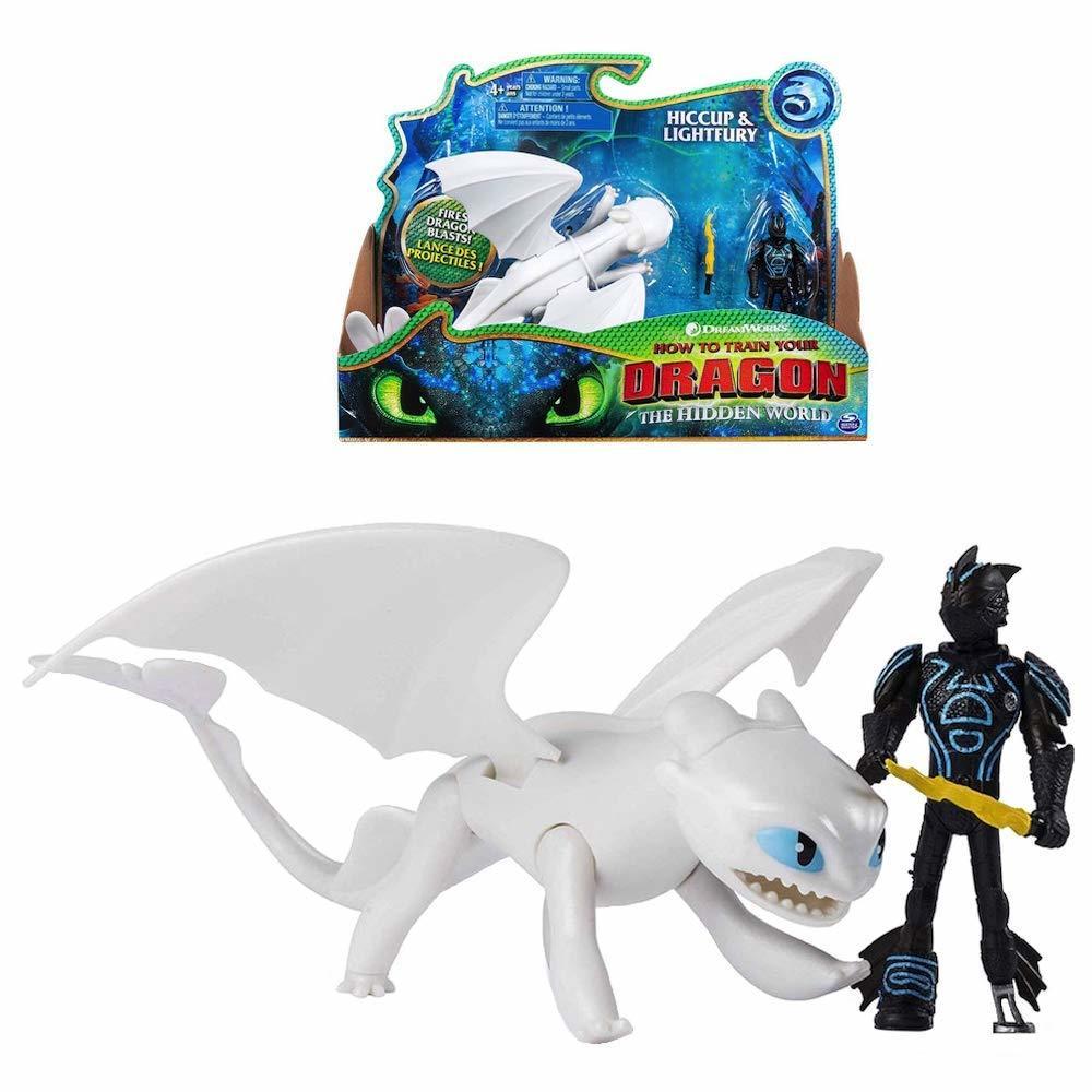 Как приручить дракона 3 игрушки Дракон и Всадник