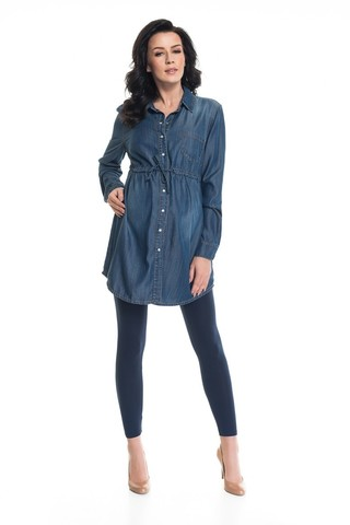 Блузка для беременных 08871 синий