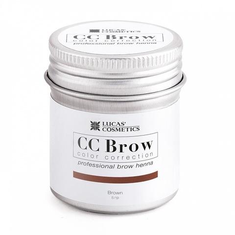 Хна для бровей CC Brow в баночке, 5 гр. Цвет коричневый