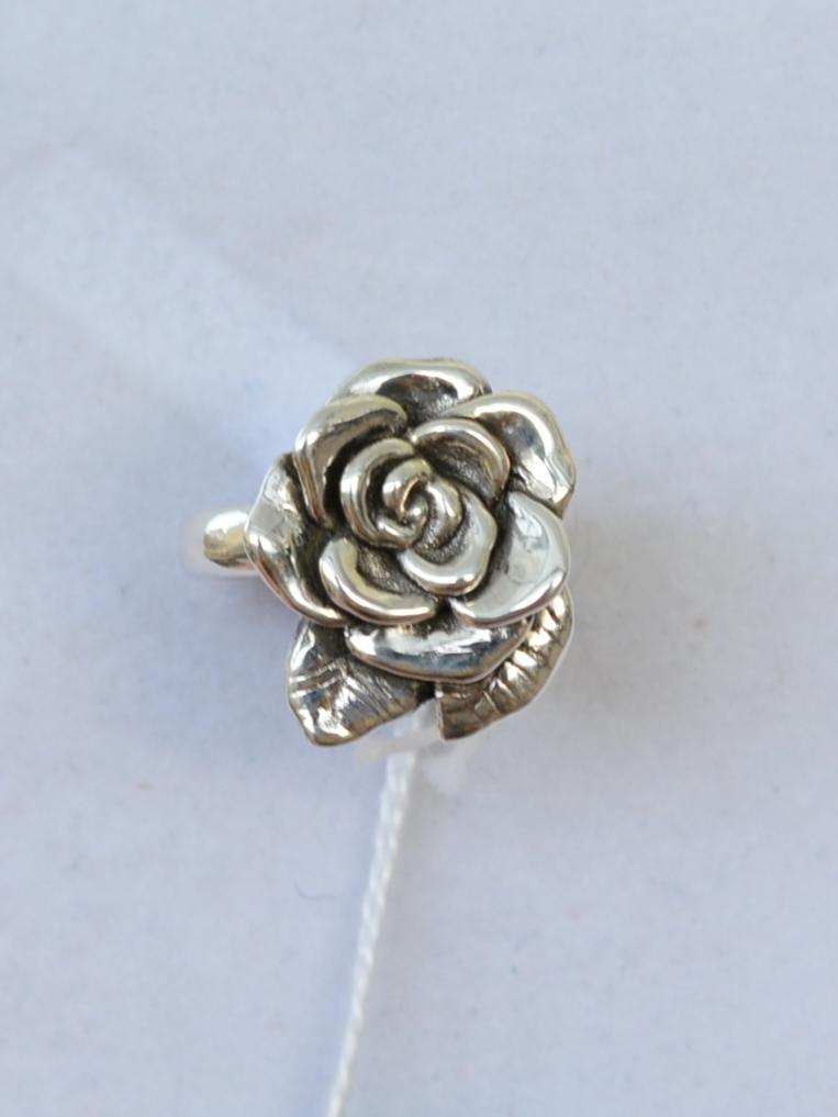 Роза-листок (кольцо из серебра)
