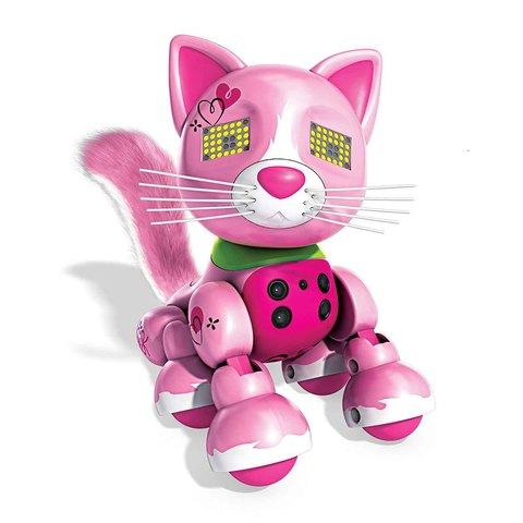 Интерактивный котенок розовый Ариста