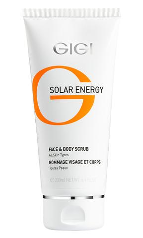 Gigi Solar Mineral Rich Face & Body Scrub, Минеральный скраб для лица и тела, 200 мл.
