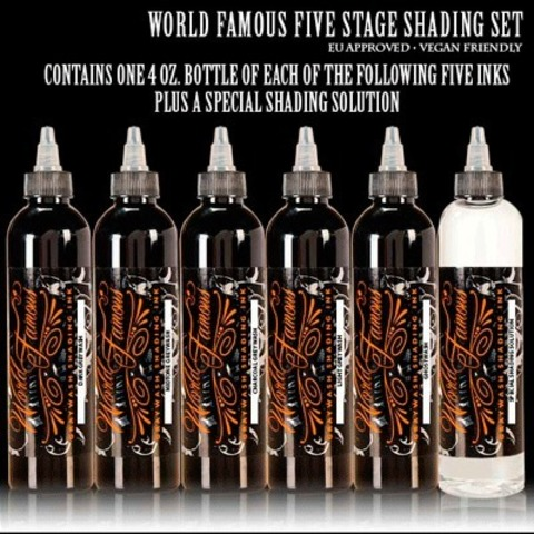 Краска World Famous Tattoo Ink  World Famous Light Greywash 120мл