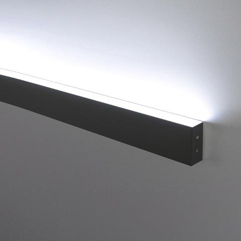 Линейный светодиодный накладной односторонний светильник 78см 15Вт 3000К черная шагрень 101-100-30-78