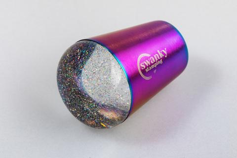 Штамп Swanky Stamping, силиконовый, с блестками, 3,5 см., без дна