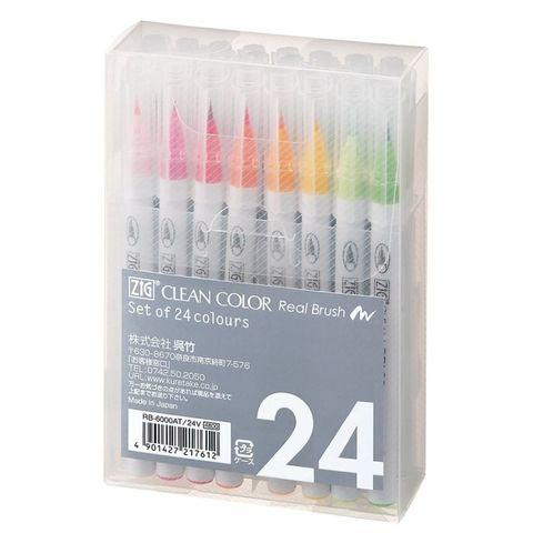 Набор акварельных маркеров ZIG Clean Color Real Brush- 24 шт.