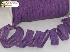 Резинка ажурная для повязок фиолетовая ширина 16 мм