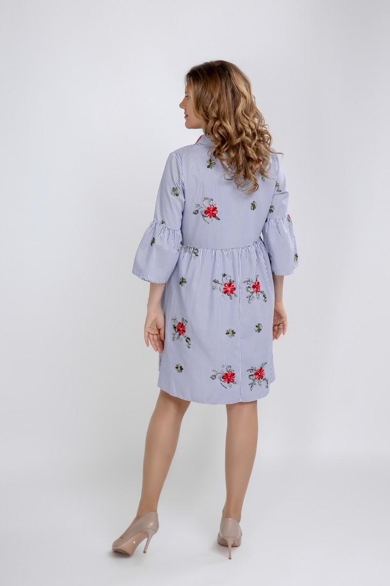 Платье для беременных 09597 полоска