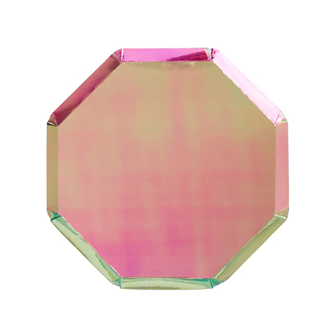 Маленькие переливающиеся восьмиугольные тарелки
