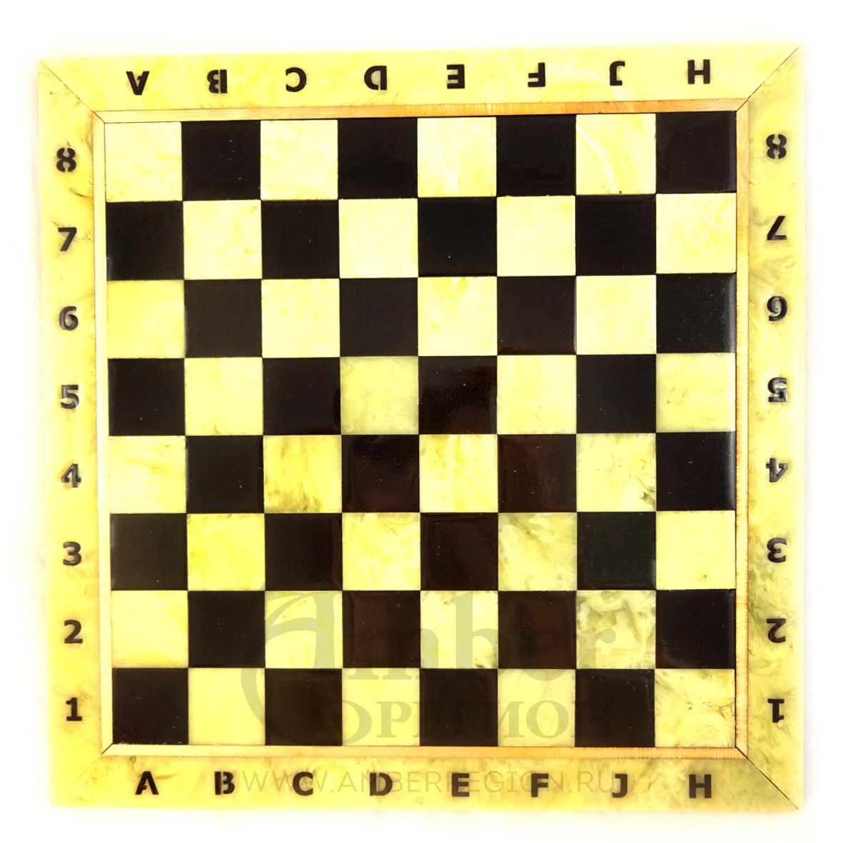 Шахматная доска 25*25 см (белая) 5 шт.