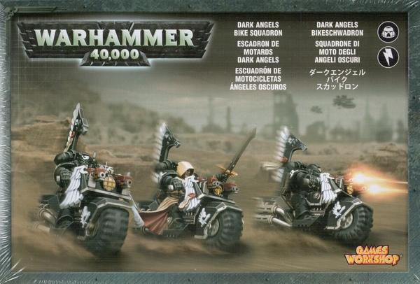 Dark Angels Ravenwing Bike Squadron. Коробка