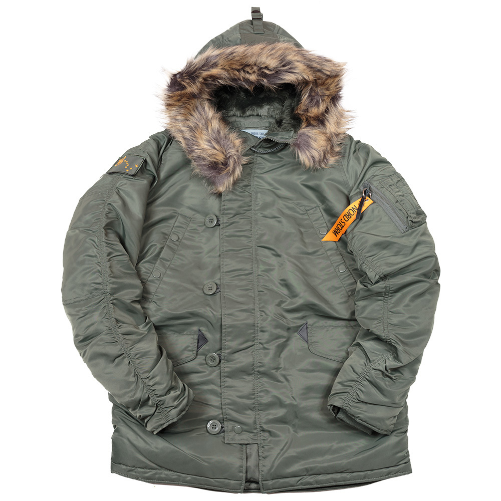 Куртка Аляска  Nord Storm N-3B Husky (зеленая - s.green/s.green)