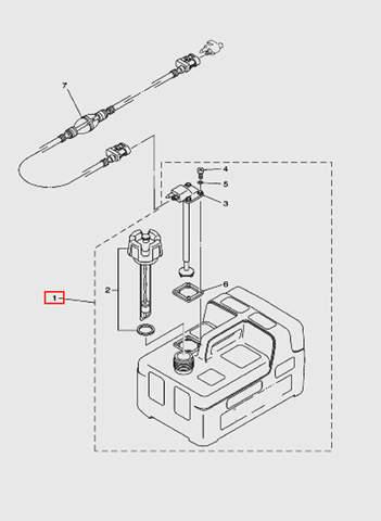 Топливный бак внешний для лодочного мотора T5 Sea-PRO (12-1)