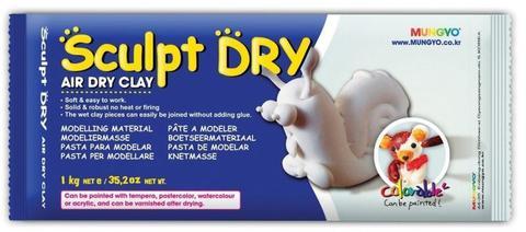 Глина для моделирования 1000g белая Sculpt Dry