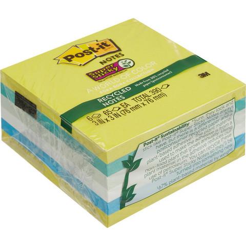 Стикеры Post-it Super Sticky 654-6SST ЭКО-Тропик  76х76, 6бл.