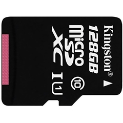 MicroSDXC 128GB Kingston Class 10 UHS-I (SD адаптер)