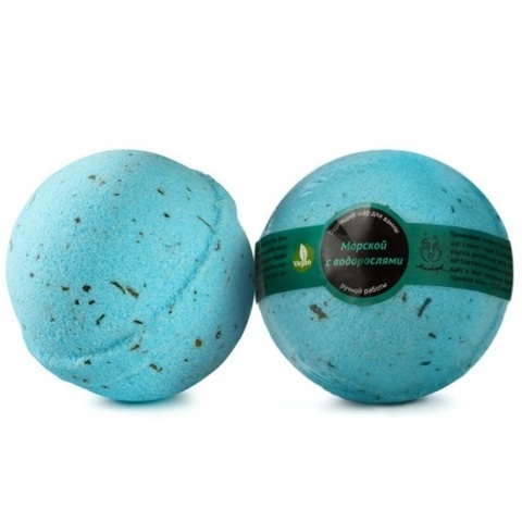 Бурлящий шар Морской с водорослями | Мыловаров