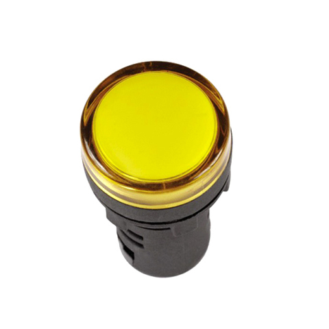 Лампа AD-16DS(LED)матрица d16мм желтый 12В AC/DC TDM