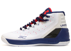Кроссовки Мужские Under Armour Curry 3 White Navy Red