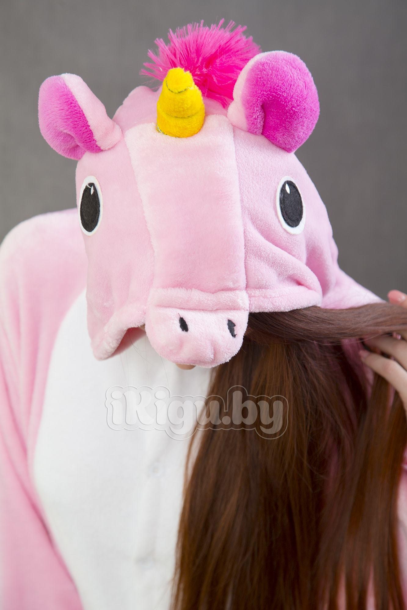 Пижамы кигуруми (рост от 140 до 187 см) Единорог Pinkie Pie Пинки_8154-min.jpg