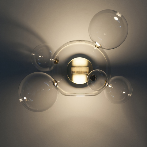 Wall lamp Bolle by Giopatto & Coombes