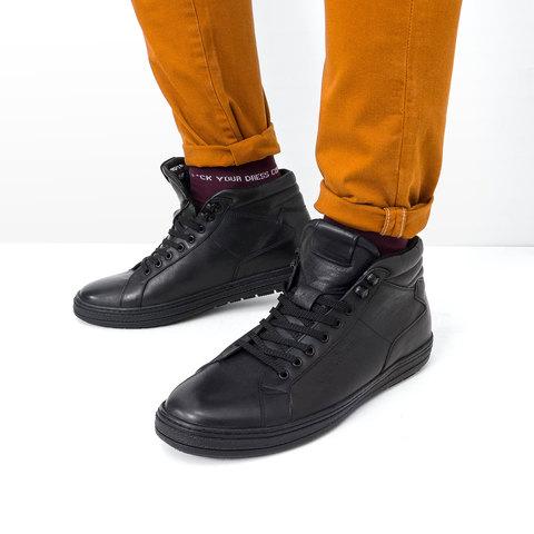 Кожаные мужские ботинки для холодной зимы