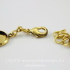 Основа для браслета с 6 сеттингами для кабошона 12 мм (цвет - античное золото)