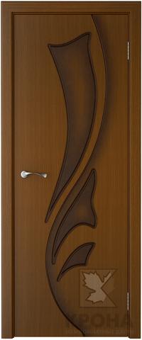 Дверь Крона Лидия, цвет орех, глухая
