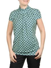 A100-15 блузка женская, зелено-синяя