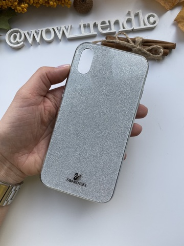 Чехол iPhone  XS Max Swarovski Case /silver/
