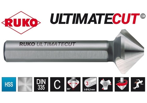 Зенковка ц/х 90° 16,5мм (DIN74BF M8) DIN335C 3z HSSE-Co5 RunaTec UltimateCut Ruko 102779EP