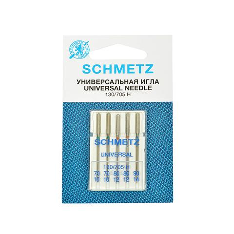 Иглы универсальные Schmetz 130/705H № 70(2),80(2),90, 5 шт.