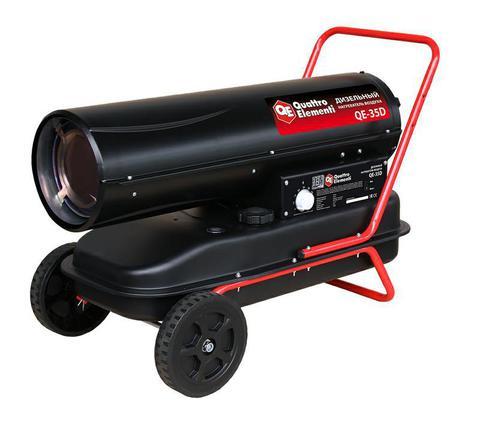 Нагреватель воздуха дизельный прямого нагрева QUATTRO ELEMENTI QE- 35D (35кВт, 720 м.куб/ч, бак 38л, 3,1л/ч, 21кг) (243-912)