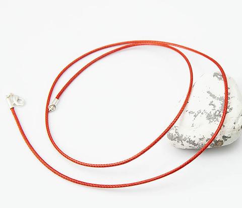 Шнурок для подвески красного цвета