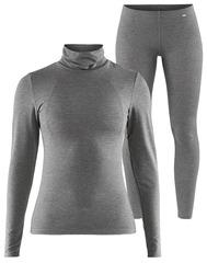 Комплект термобелья Craft Essential Warm High Neck Grey женский